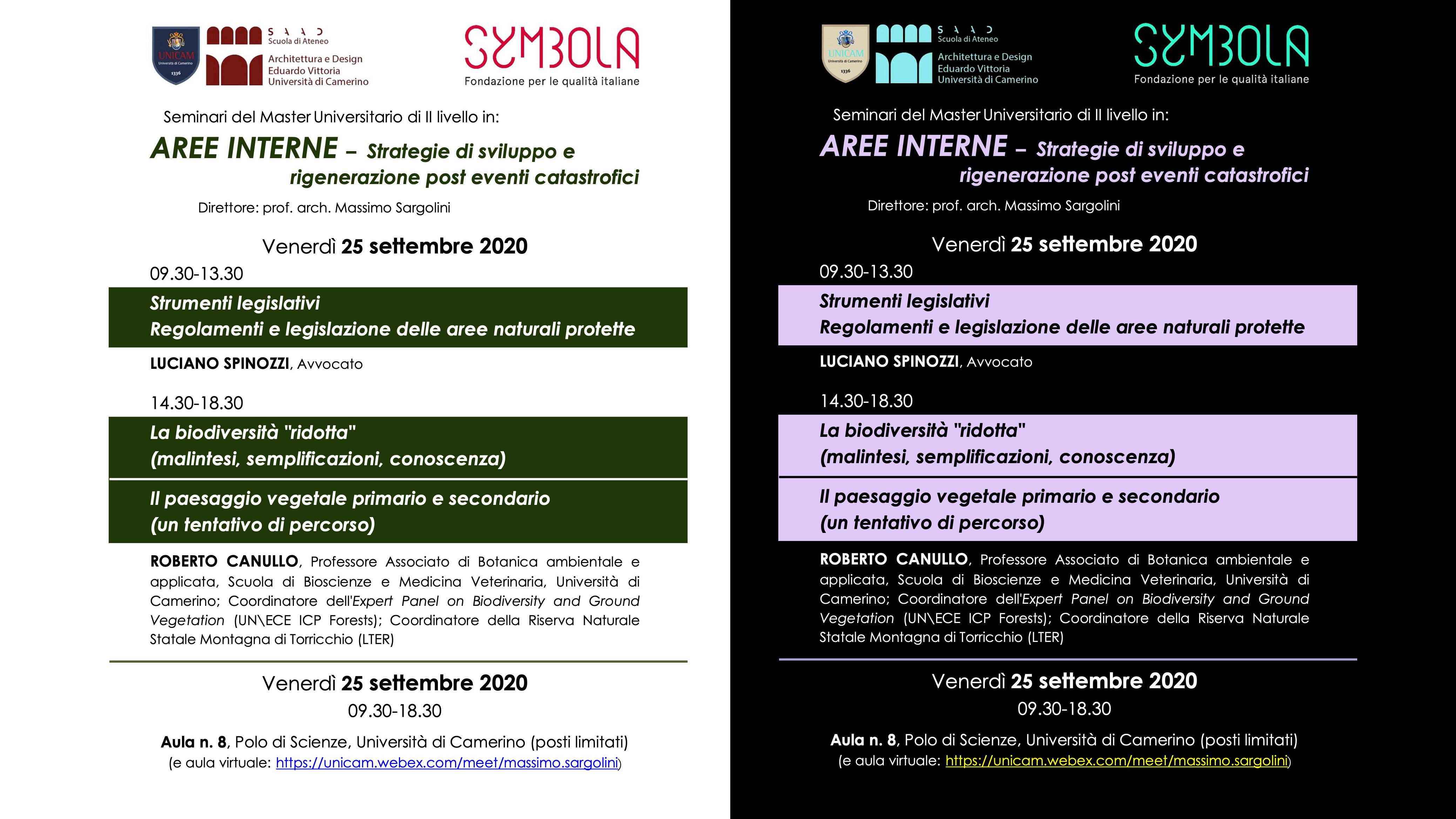 AREE INTERNE – Strategie di sviluppo e rigenerazione post eventi catastrofici