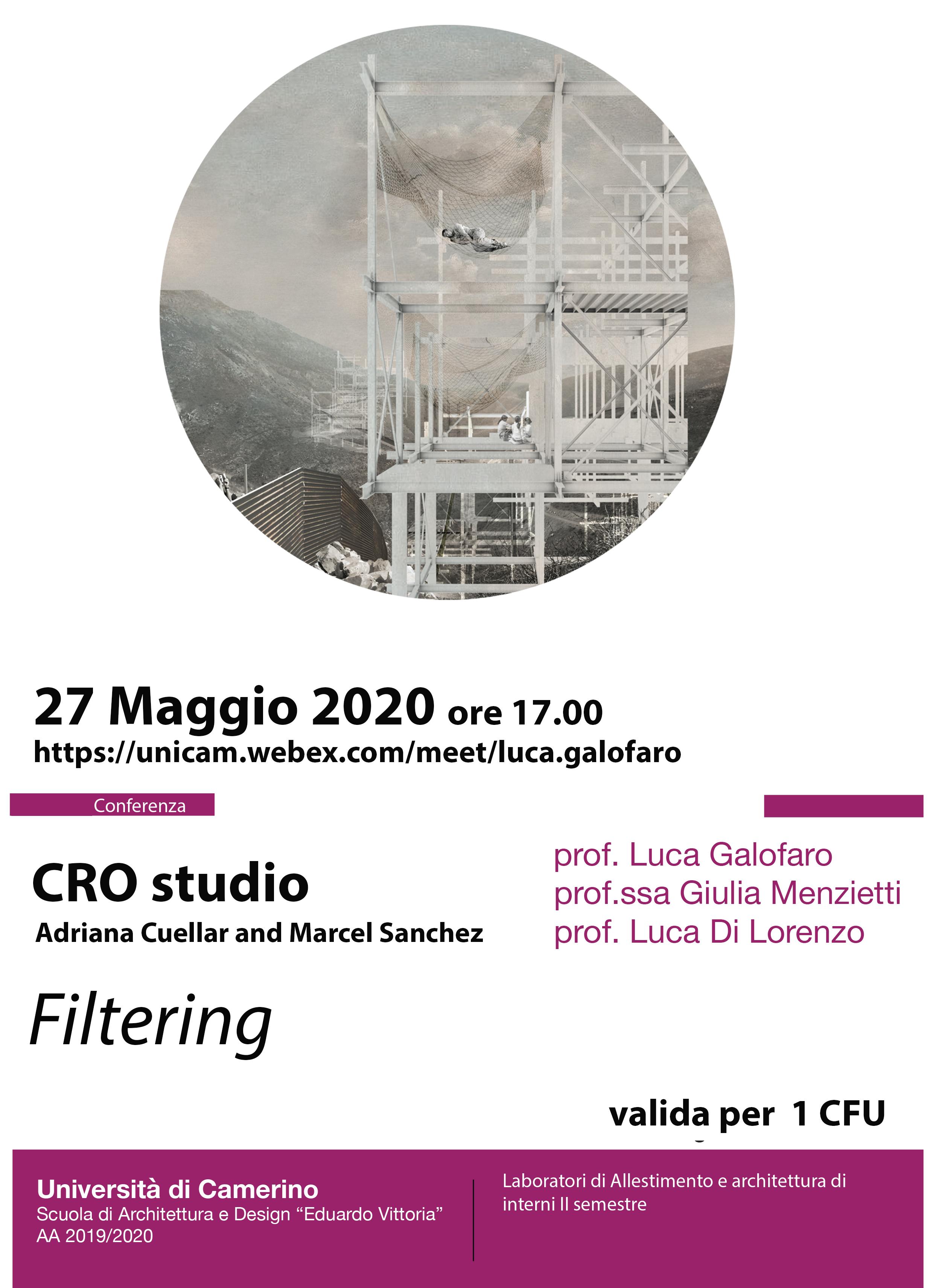 locandina manifesto filtering cro