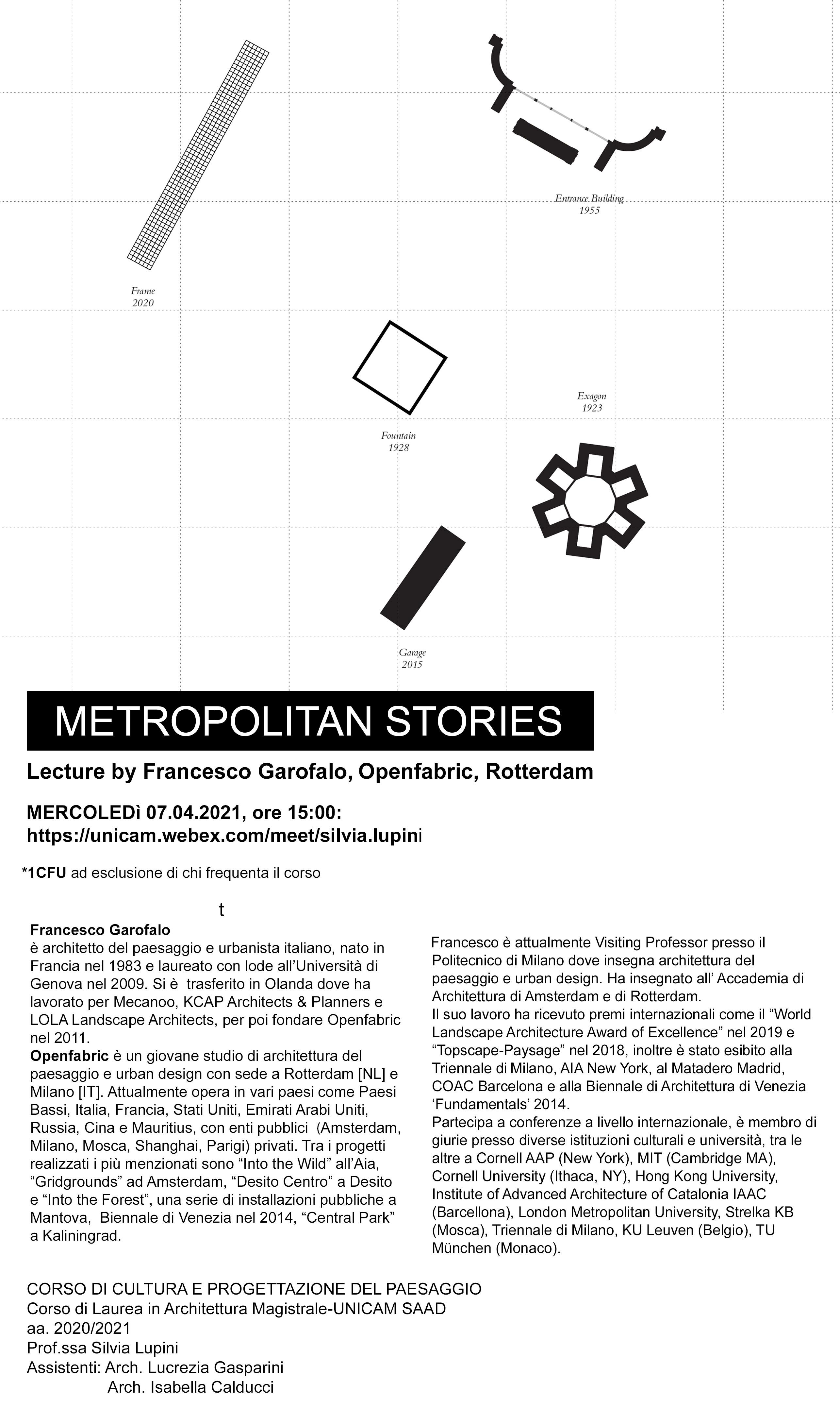 Landscape lecture, Metropolitan Stories