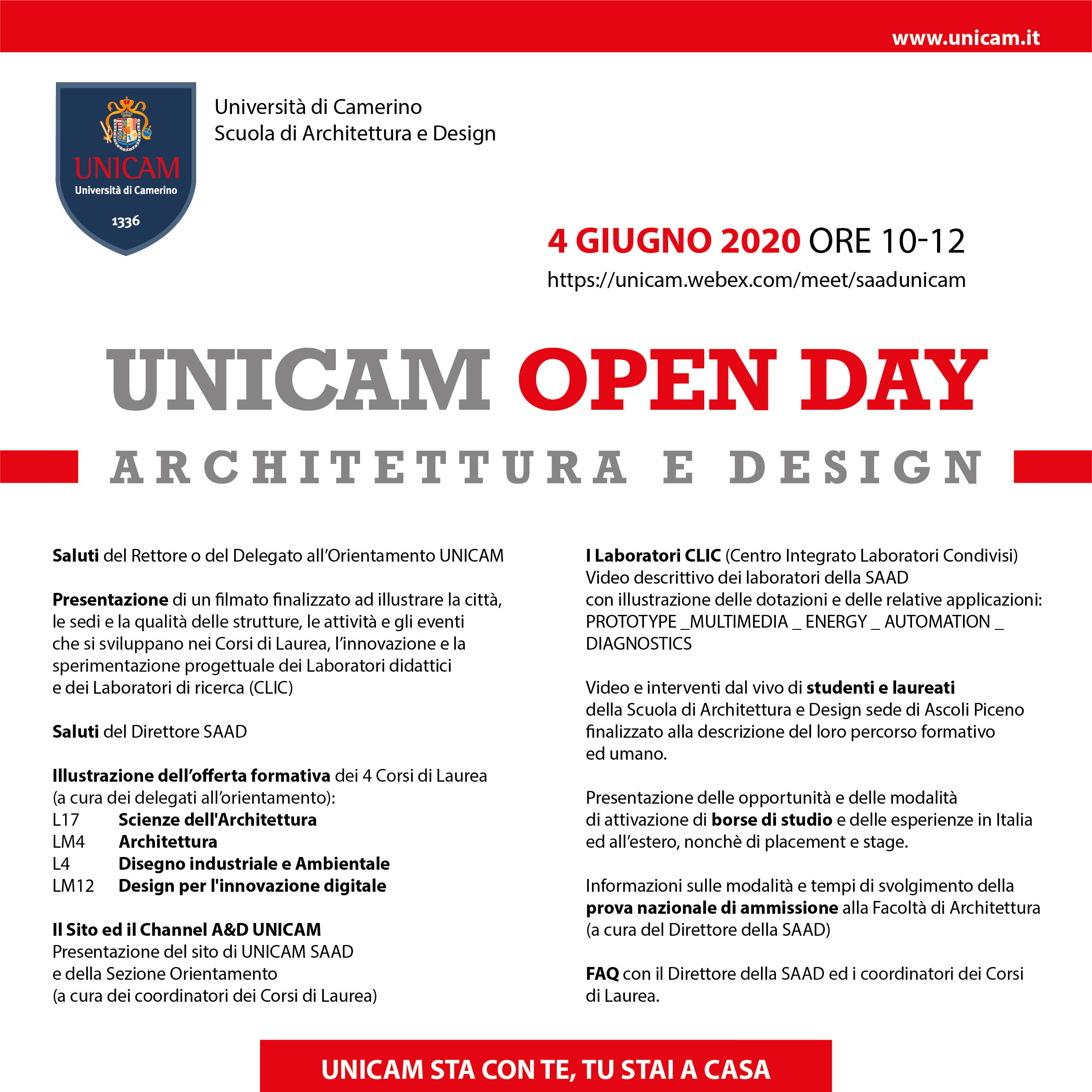 open day design architettura