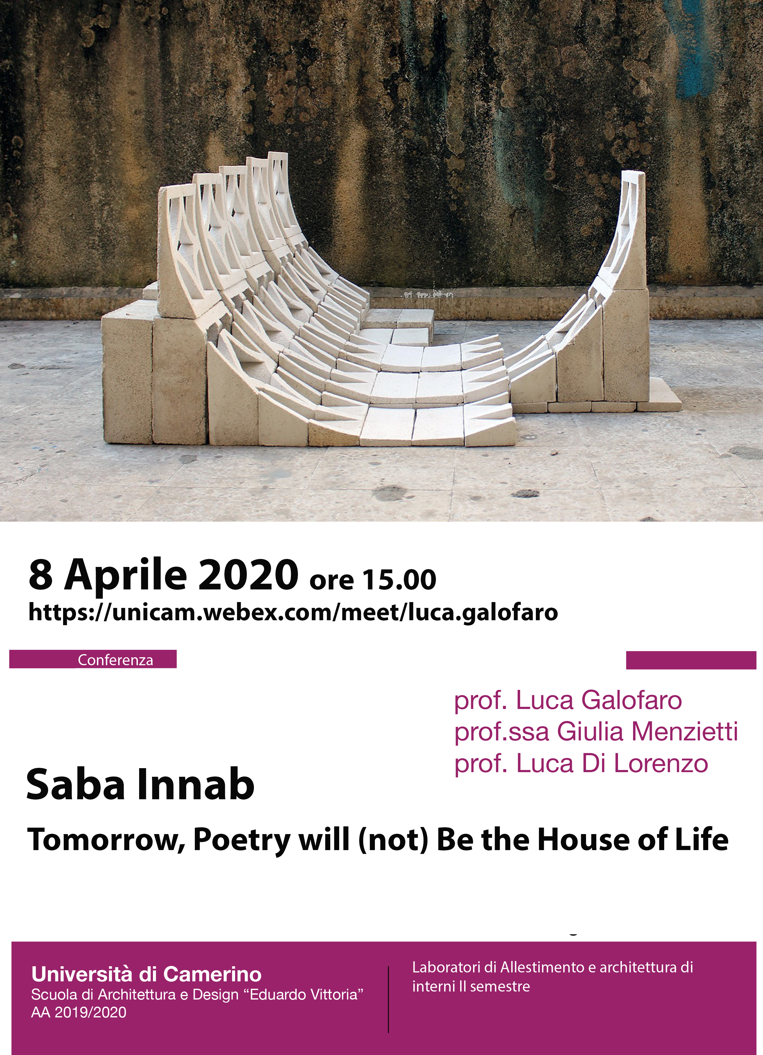 Saba Innab, Tomorrow, Poetry will (not) Be the House of Life