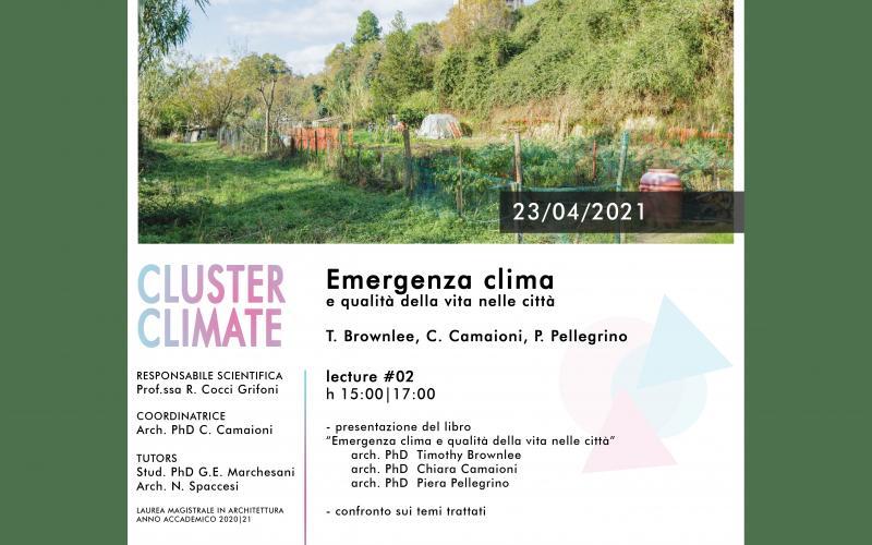 Timothy Brownlee e Piera Pellegrino emergenza climatica