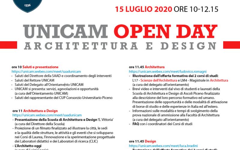 open day unicam saad