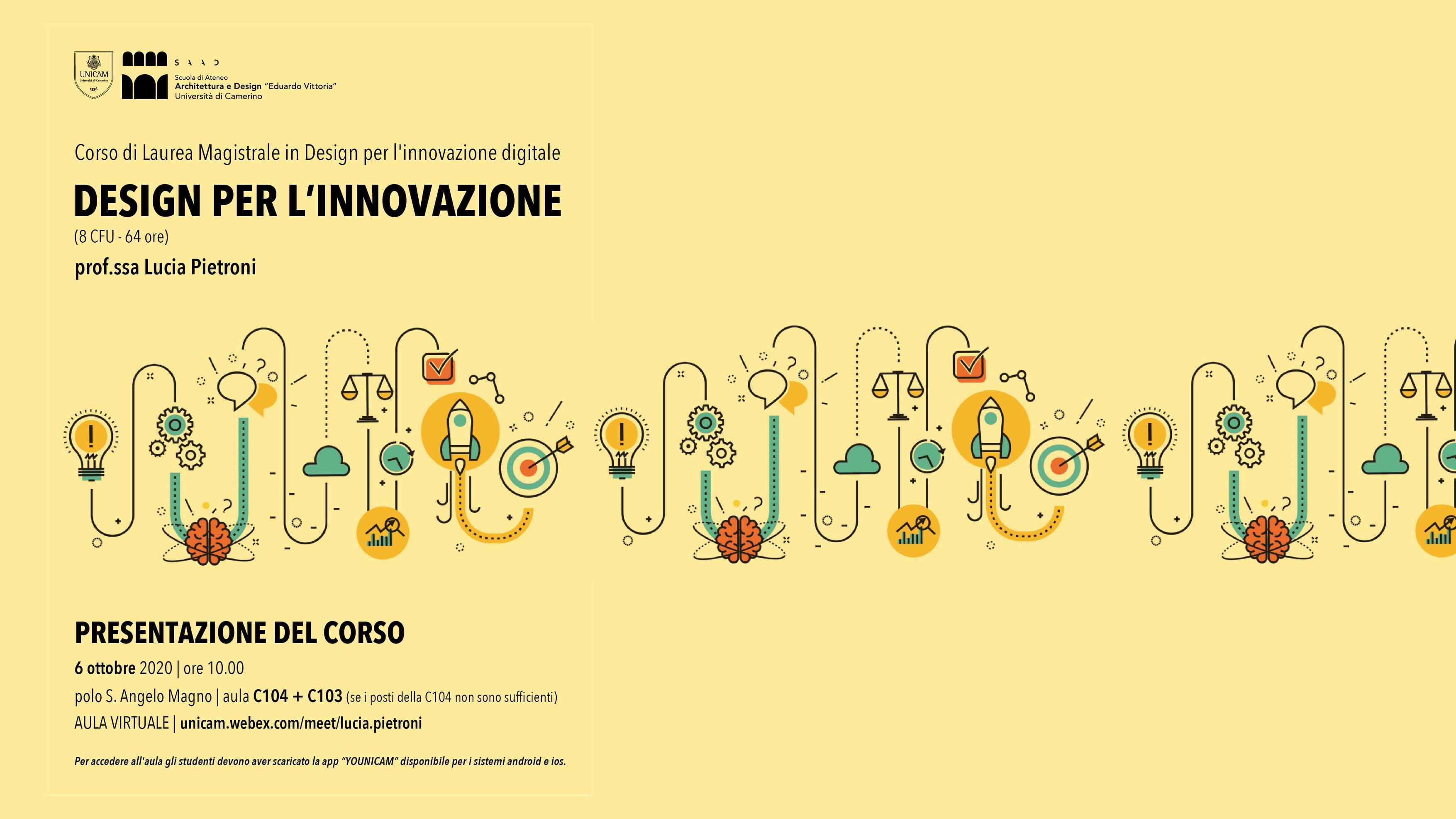 corso design innovazione locandina