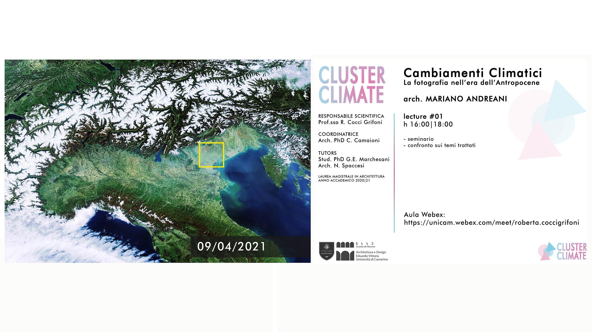 cluster climate locandina