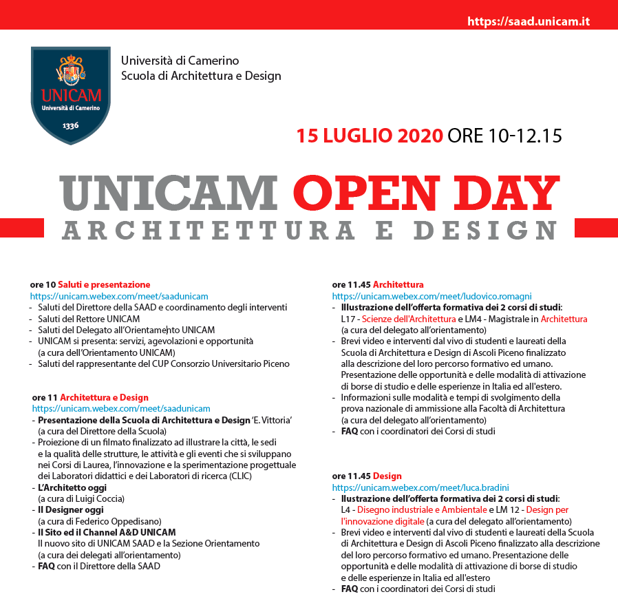 open day unicam saad