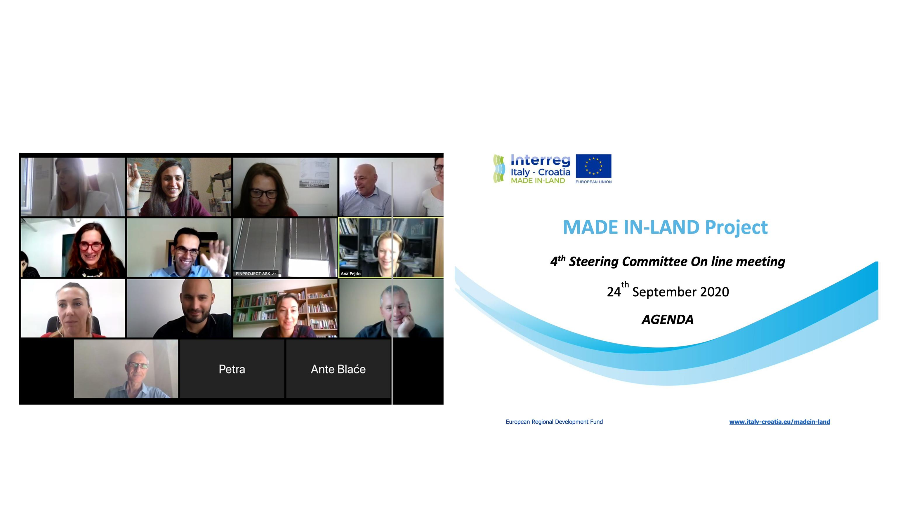 MADE in LAND - 4th Steering Committee progetto ricerca italia croazia